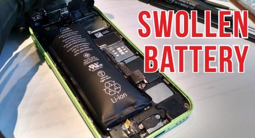 swollen battery