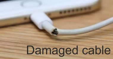damaged cable