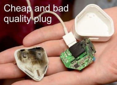 damaged plug