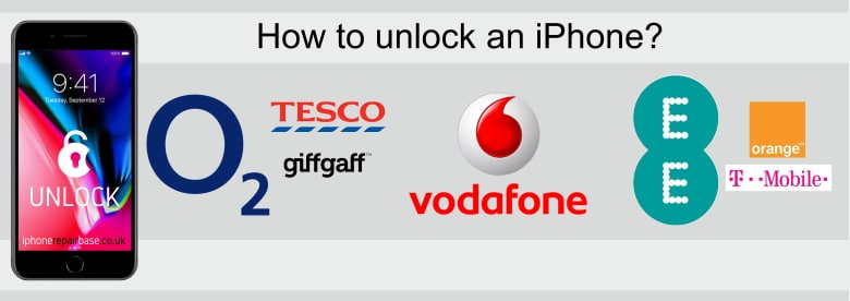 iPhone unlock o2 vodafone ee