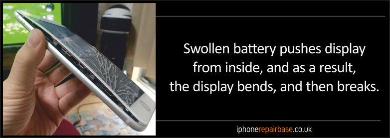 Fake Apple chargers and damaged lightning cables can destroy iPhones and iPadsswollen battery 02